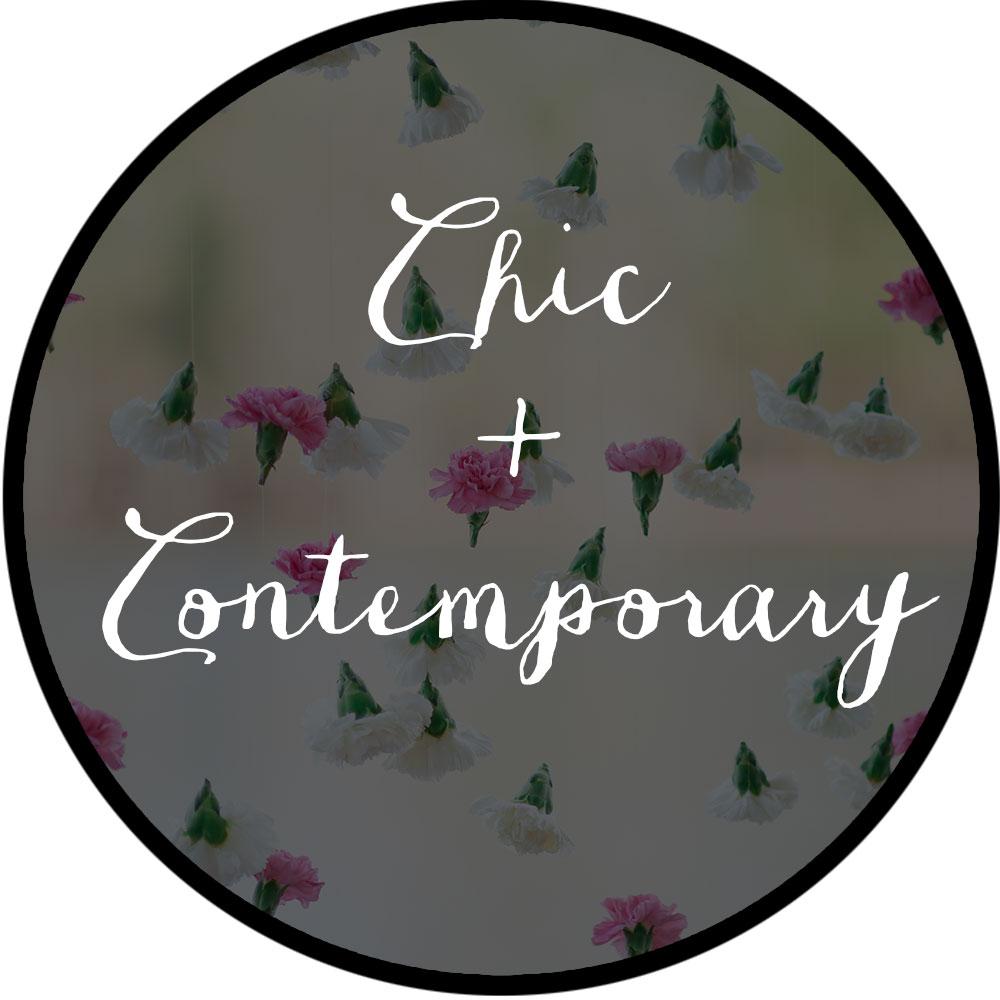 Chic Contemporary Flowers wedding
