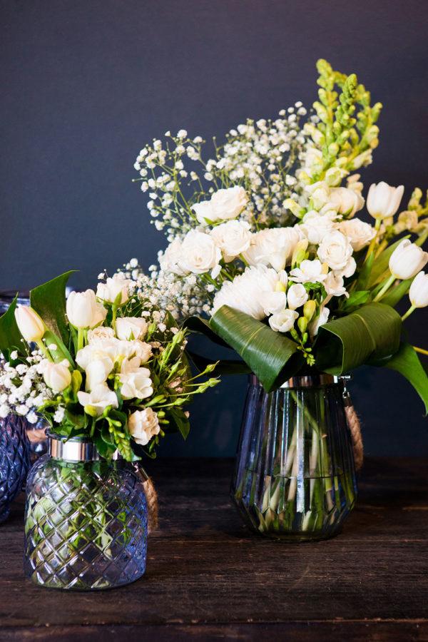 designer vase seasonal flower gift