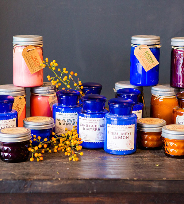 Quality scented natural soy candles